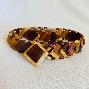 """Rare"" Vintage Wooden Rainbow Belt ,Boho O…"